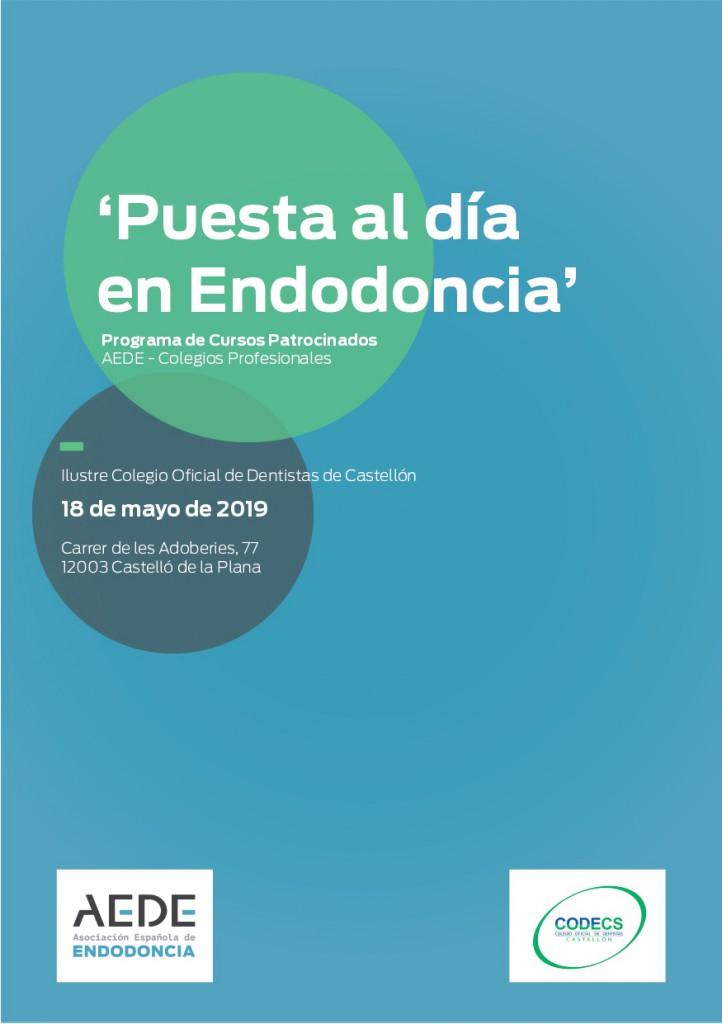 ¡¡COMPLETO!! CURSO 'PUESTA AL DÍA EN ENDODONCIA' @ Sede del Colegio Oficial de Dentistas de Castellón