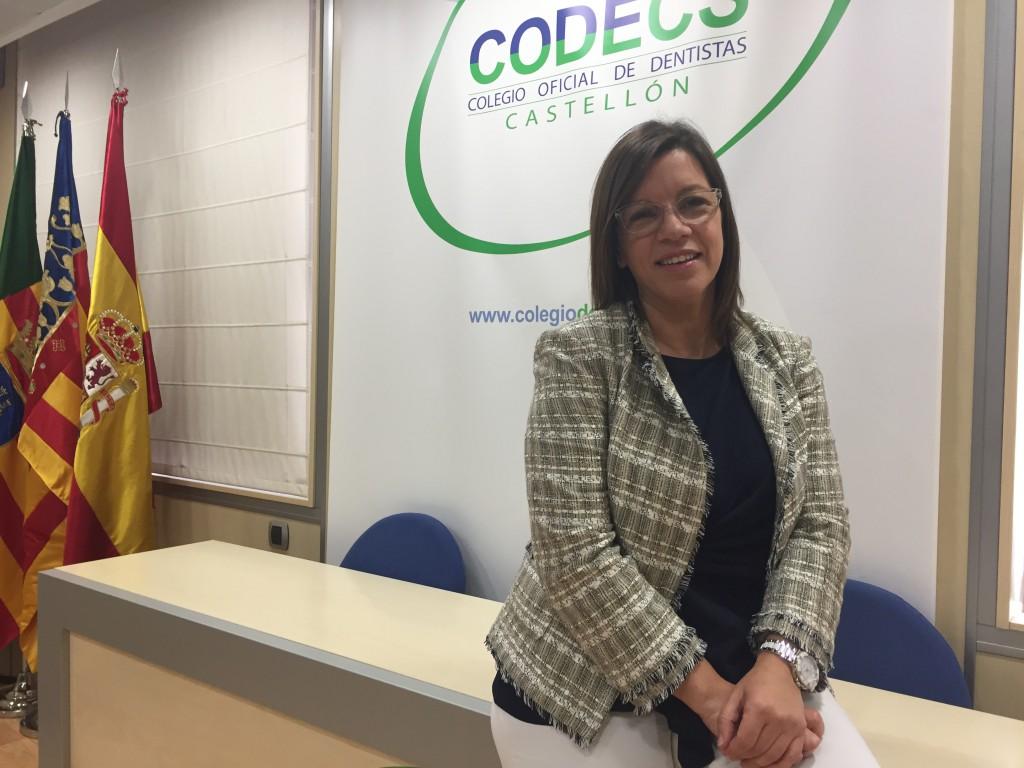 Salome Garcia, este lunes durante su toma de posesion como presidenta del CODECS