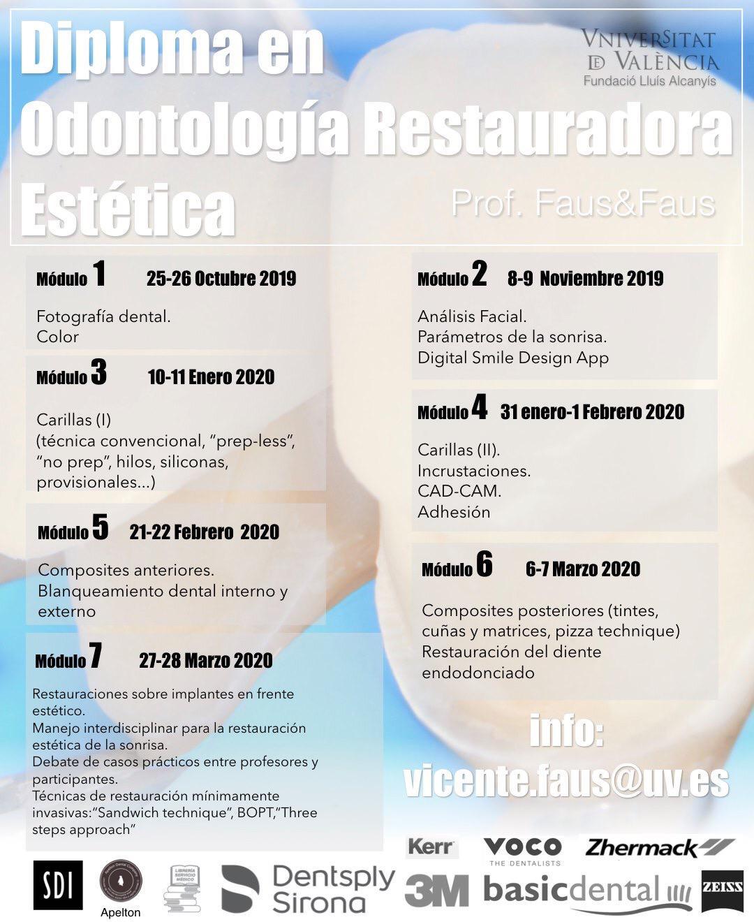 DIPLOMA EN ODONTOLOGIA RESTAURADORA ESTETICA