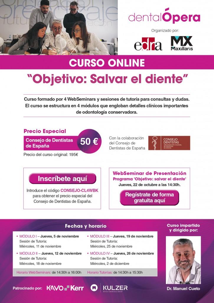 """Curso """"Objetivo: Salvar el diente"""" Dr. Cueto-Curso Online Consejo Dentistas"""